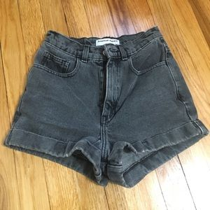 American Apparel cuffed shorts